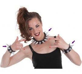 Set Punky: Collar y 2 pulseras de pinchos