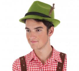 Sombrero Bávaro con Cordón Negro para adultos
