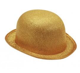 Sombrero Bombín dorado