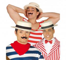 Sombrero Canotier o Gondolero