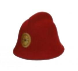 Sombrero de Bombero de color rojo
