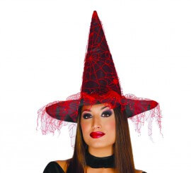 Sombrero de Bruja con velo