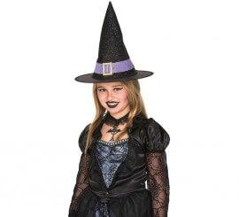 Sombrero de Bruja negro y morado