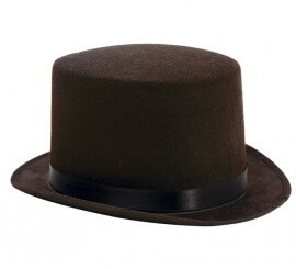 Sombrero de copa o Chistera de fieltro negra
