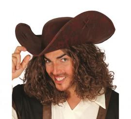 Sombrero de Corsario lujo de imitación de cuero