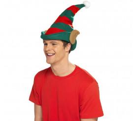Sombrero de Elfo rojo y verde con orejas