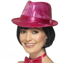Sombrero de fieltro con lentejuelas Rosa