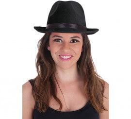 Sombrero de Gánster Negro para adultos