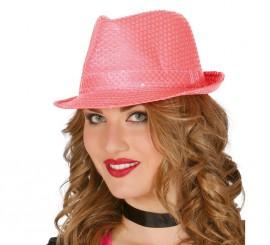 Sombrero de lentejuelas color rosa