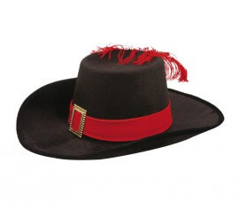 Sombrero de Mosquetero de Terciopelo para niño