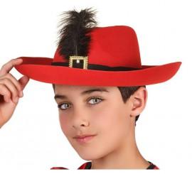 Sombrero de Mosquetero de Terciopelo para niño 70d8188b743f