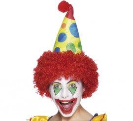 Sombrero de Payaso con peluca roja