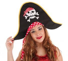 Sombrero de Pirata con Lunares para mujer