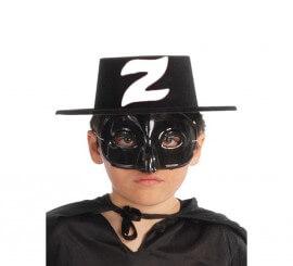 Sombrero de plástico flocado bandido infantil