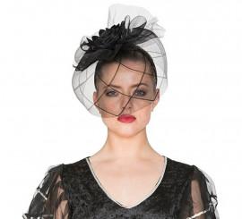 Sombrero de Viuda con diadema