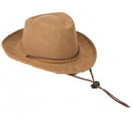 Sombrero marrón de Vaquero para adultos 9b0e6b106c0