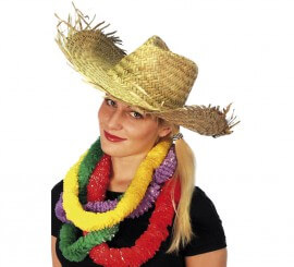Sombrero playero de paja Hawaiano