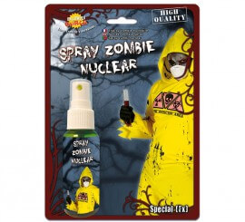 Spray Sangre Zombie nuclear de color verde