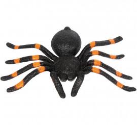 Tarántula negra y naranja 20 cm