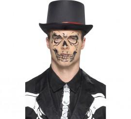Tattoo visage de Squelette avec Autocollant