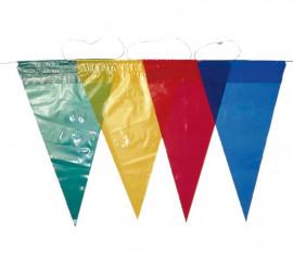 Tira con bandera triangular multicolor 50 m