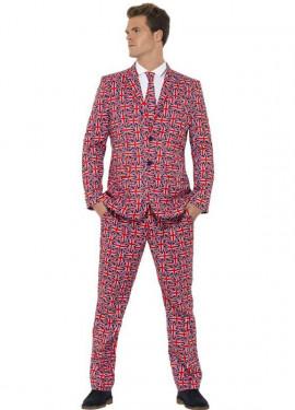 Déguisement Costume Cravate Angleterre pour homme plusieurs tailles