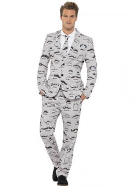 Déguisement Costume Cravate Moustaches pour homme plusieurs tailles