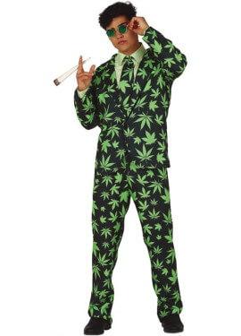 Traje Divertido de Hojas de Marihuana para hombre