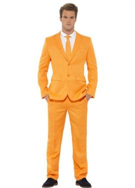 Déguisement Costume Cravate Orange pour homme plusieurs tailles