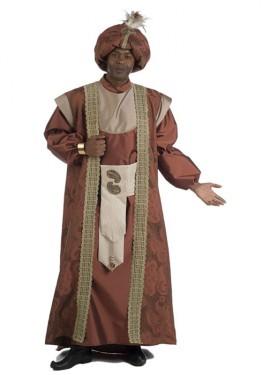 Traje o Disfraz de Rey Mago Baltasar extralujo para hombre