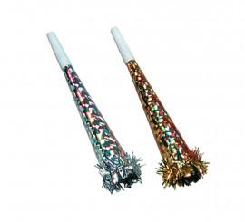 Trompeta metalizada en varios colores 26 cm