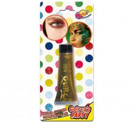 Tubo de 20 ml. de maquillaje oro glitter - brillo
