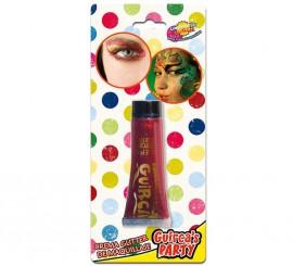 Tubo de 20 ml. de maquillaje rojo glitter - brillo