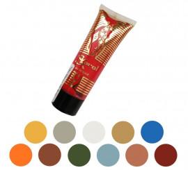 Tubo de maquillaje fluido fijo 20 ml en varios colores.
