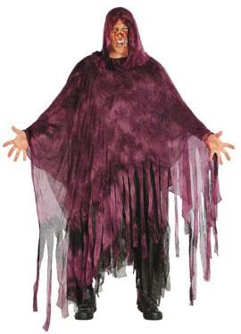 Disfraz o Túnica Tinieblas lila para adulto