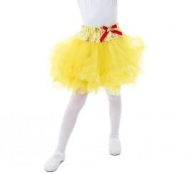 Tutú amarillo Bella para niña