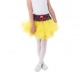 Tutú amarillo Blancanieves para niña