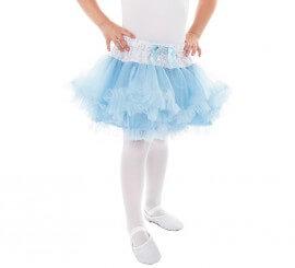 Tutú azul Cenicienta para niña