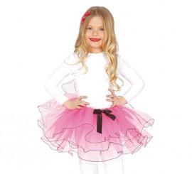 Tutú color rosa infantil