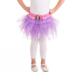Tutú lila Superheroína Relámpago para niña