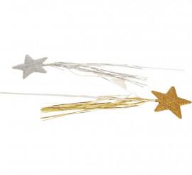Varita con Estrella en colores surtidos 50 cm
