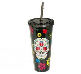 Vaso del Dia De Los Muertos 20 cm