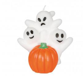 Vela Fantasmas con Calabaza 10 cm