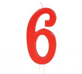 Vela Roja Nº 6 de 12 cm