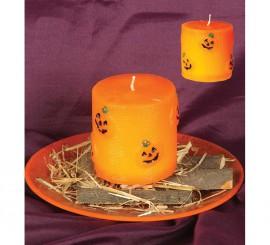 Velón de Calabazas naranja de 7,5 x 7,5 cm