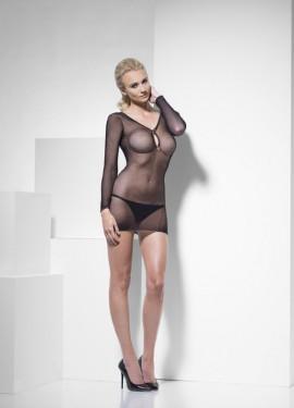 Vestido de Rejilla Negro