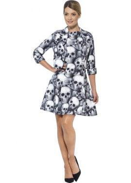 Vestido Divertido de Esqueleto para mujer