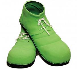 Zapatos de Payaso verdes de látex de 31 cm.