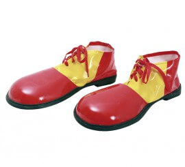 Zapatos grandes de Payaso rojos de 56 cm
