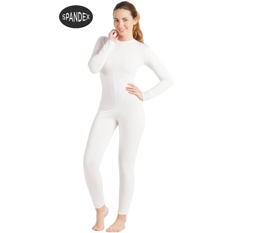 Mono interior de spandex  Blanco para mujer
